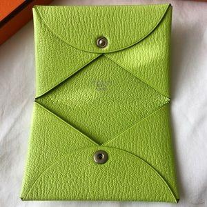 Hermes Calvi Card Holder